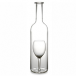 Wine Carafes with a wine glass snuggled inside photo