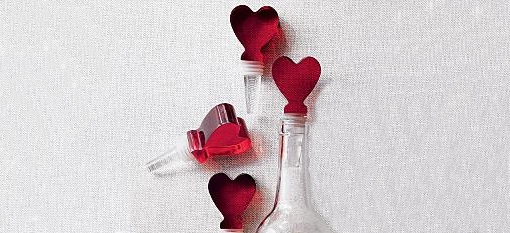 Red Heart Bottle Stoppers photo