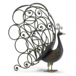 Peacock Wine Rack photo
