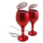 USB Wine Glass speakers photo