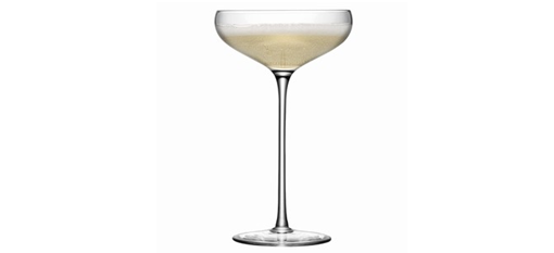 Champagne glass resembles Marie's bossom photo