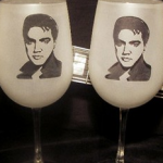 Elvis Wine Glasses photo