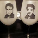 Elvis Wine Glasses photo