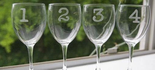 Numbered Wine Glasses photo