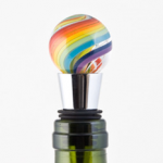Rainbow Glass Wine Stopper photo