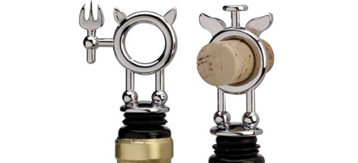 Saint and Sinner bottle stoppers photo