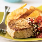Grilled Tuna Steaks with Grape and Caper Salsa photo
