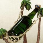 Hammock wine bottle holder photo