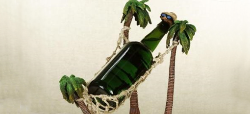 Hammock wine bottle holder photo