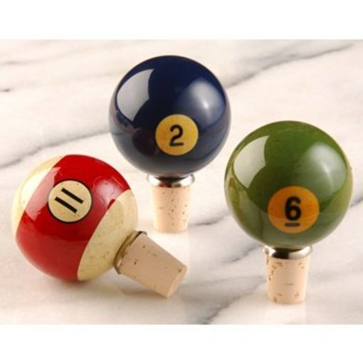 Recycled Pool Ball Wine Stoppers photo