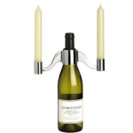 Wine Bottle and Candle Holder photo