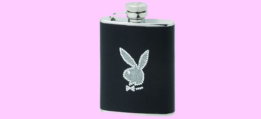 Playboy Leather Hip Flask photo