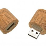 Wine cork USB drive photo