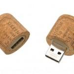 Wine cork USB drive photo