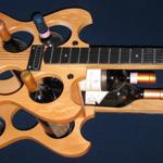 Guitar wine rack photo