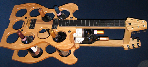 Guitar wine rack photo