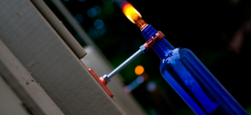 Recycled Wine Bottle Torch photo