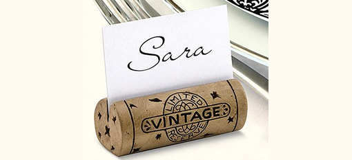 DIY Cork Place Card Holders photo