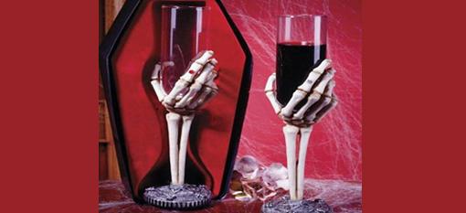 Skeleton wine glasses photo