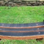 DIY Wine Barrel Swing photo