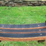 DIY Wine Barrel Swing photo