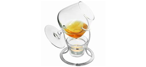 Brandy Glass and Warmer Set photo