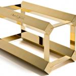 Gold wine rack photo
