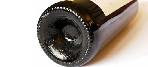 The purpose of the indentation on a wine bottle photo