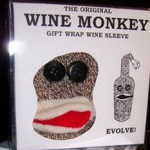 Wine Monkey Sock photo