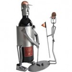 The Golfer Wine Bottle Holder photo
