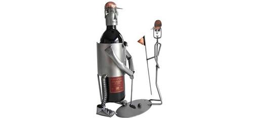The Golfer Wine Bottle Holder photo
