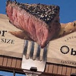 Billboard Smells Like A Steak photo