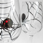Halloween: Black Widow Wine Glasses photo