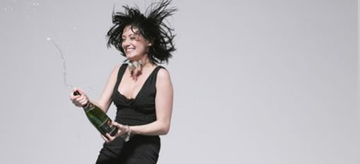 Woman arrested for splashing champagne photo