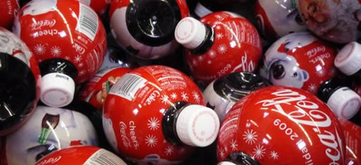 Coca Cola Christmas Ornament Bottles photo