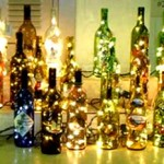 Festive Wine Lamps photo
