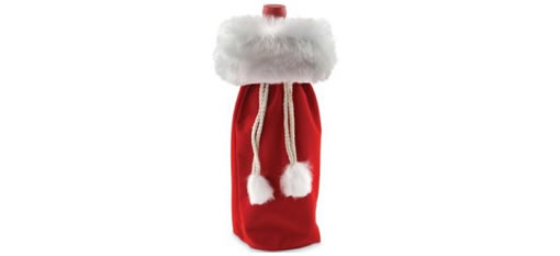 Velvet Christmas Wine Bottle Gift Bag photo