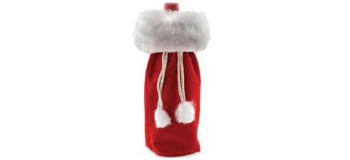 Velvet Christmas Wine Bottle Gift Bag photo