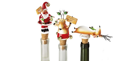 Christmas wine stoppers photo
