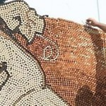 3D Artwork Made From 300000 wine corks photo