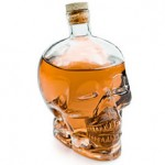 Glass skull decanter photo