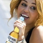 Hanna Montana growing up on Corona Beer photo