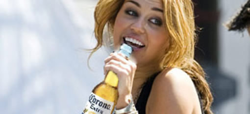 Hanna Montana growing up on Corona Beer photo