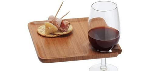 Bamboo Wine Tray photo