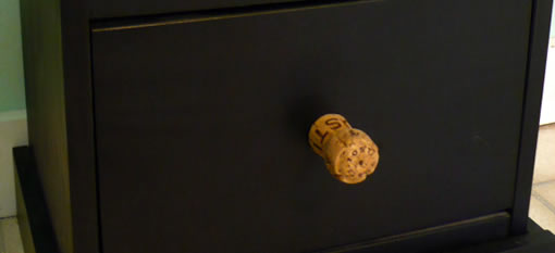 Recycled Champagne Cork Drawer Knobs photo