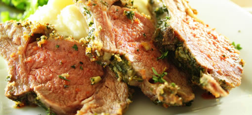 Divine Black Pepper and Herb-Crusted Rack Of Lamb photo
