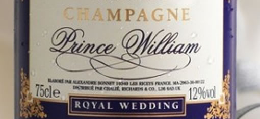 Campaign for English sparkling wine at Royal Wedding photo