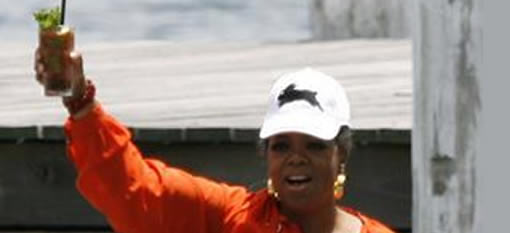 Oprah shakes her hangover with a Bloody Mary photo