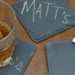 Make your own Chalkboard Beverage Coasters photo