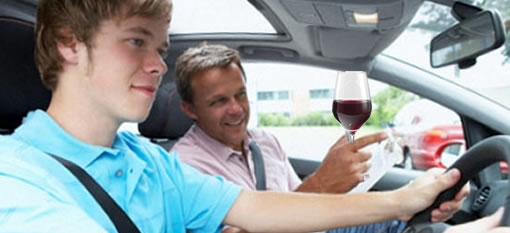 Driving instructor offered wine to pupils during class photo